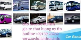 dịch vụ hco thuê xe du lịch tại huế giá rẻ