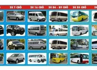 bảng giá thuê xe du lịch tại huế