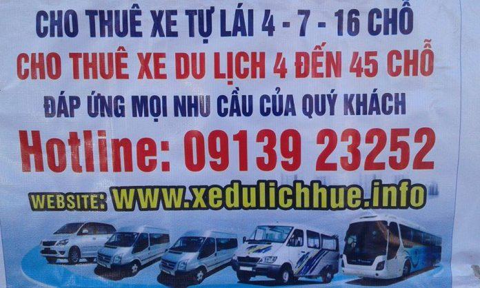 Cho thuê xe du lịch tại Huế
