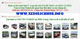 dịch vụ cho thuê xe du lịch tại huế