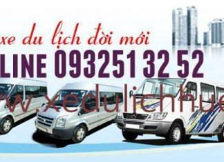 địa chỉ cho thuê xe du lịch uy tín huế