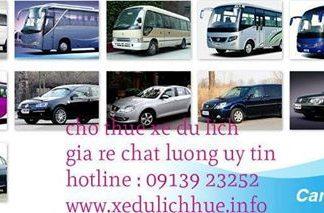 cho thuê xe du lịch huế